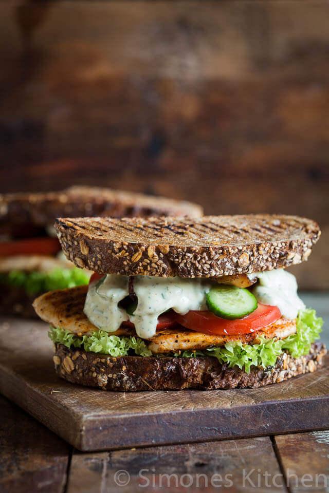 Gegrilde kip sandwich   simoneskitchen.nl