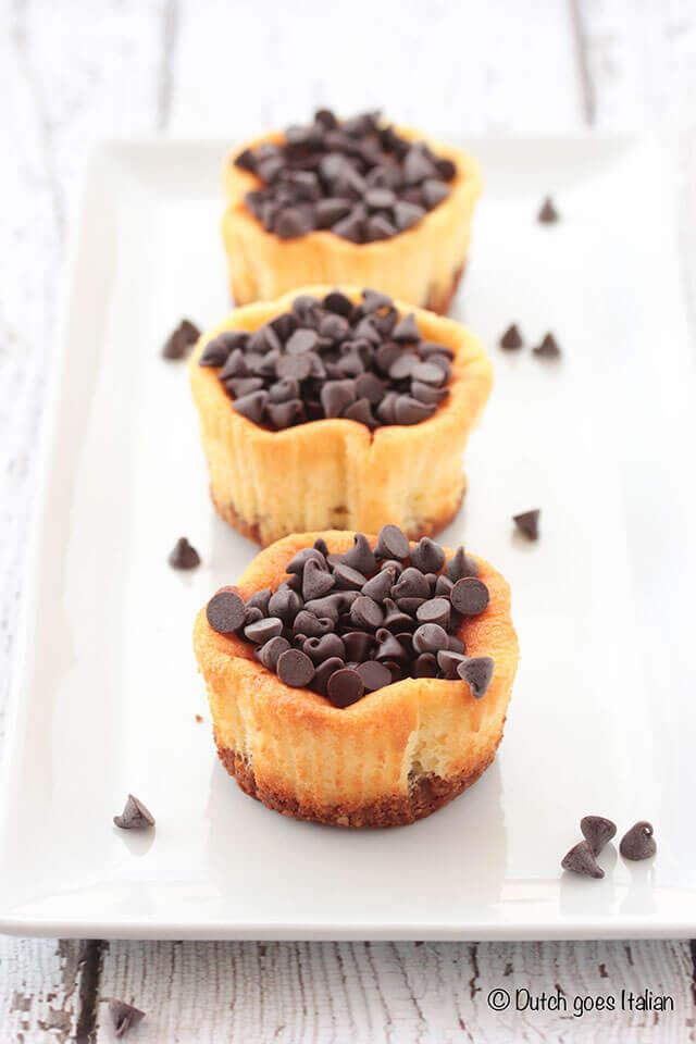 Mini chocolade cheesecakes | simoneskitchen.nl