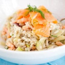 Venkel risotto met zalm en garnalen | simoneskitchen.nl