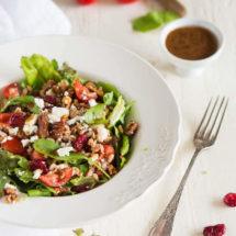 Farro salade met vijgen dadel dressing | simoneskitchen.nl
