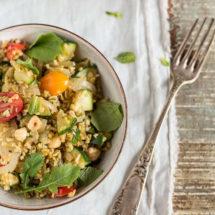 Freekeh salade met courgette | simoneskitchen.nl