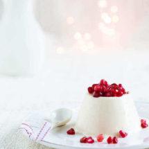 Yoghurt pannacotta met granaatappel | simoneskitchen.nl