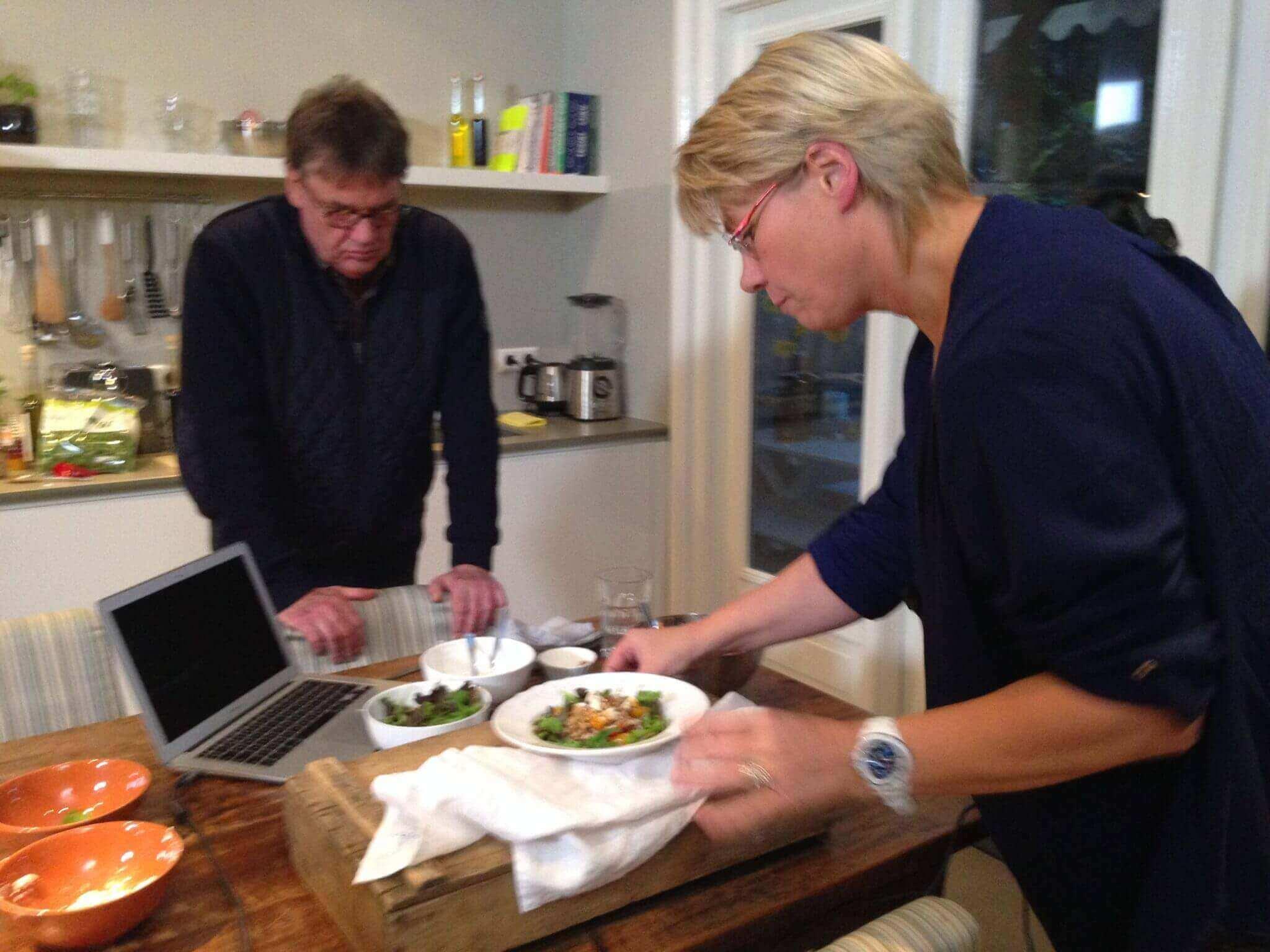 Op Tv voor RTV Utrecht met Henk Westbroek