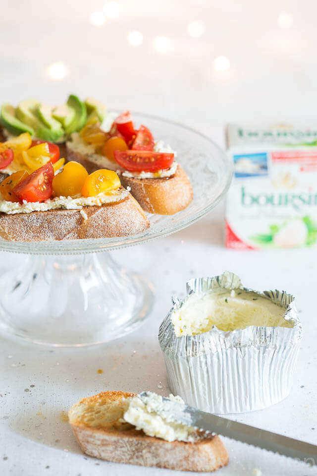 Crostini met boursin, tomaatjes en balsamico | simoneskitchen.nl