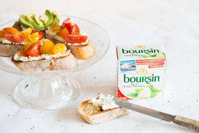 Crositini met boursin, tomaatjes en balsamico | simoneskitchen.nl