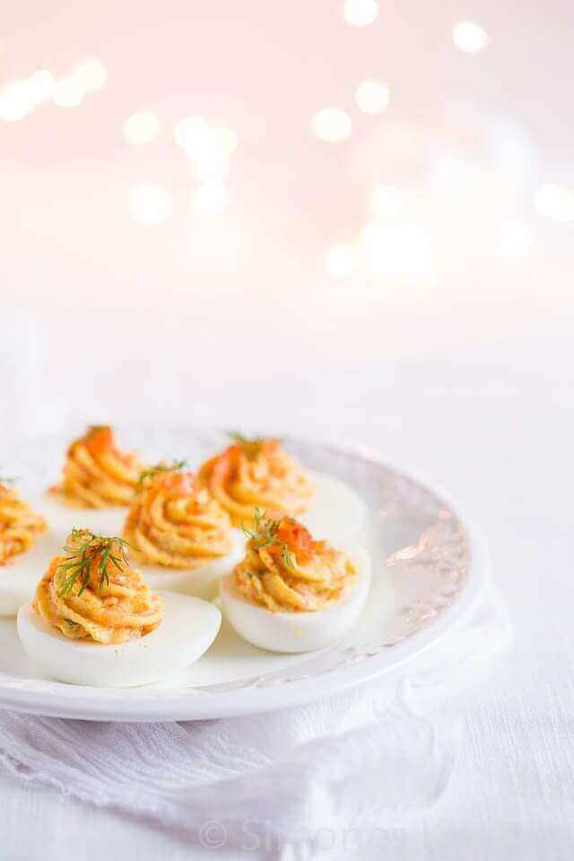 Gevulde eieren met zalm | simoneskitchen.nl