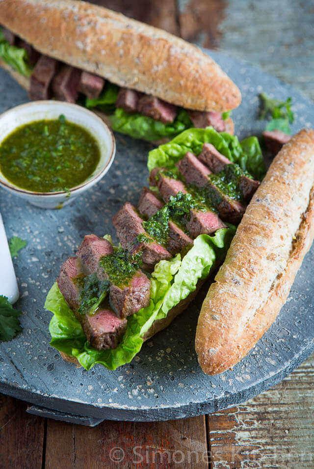 Steak sandwich | simoneskitchen.nl