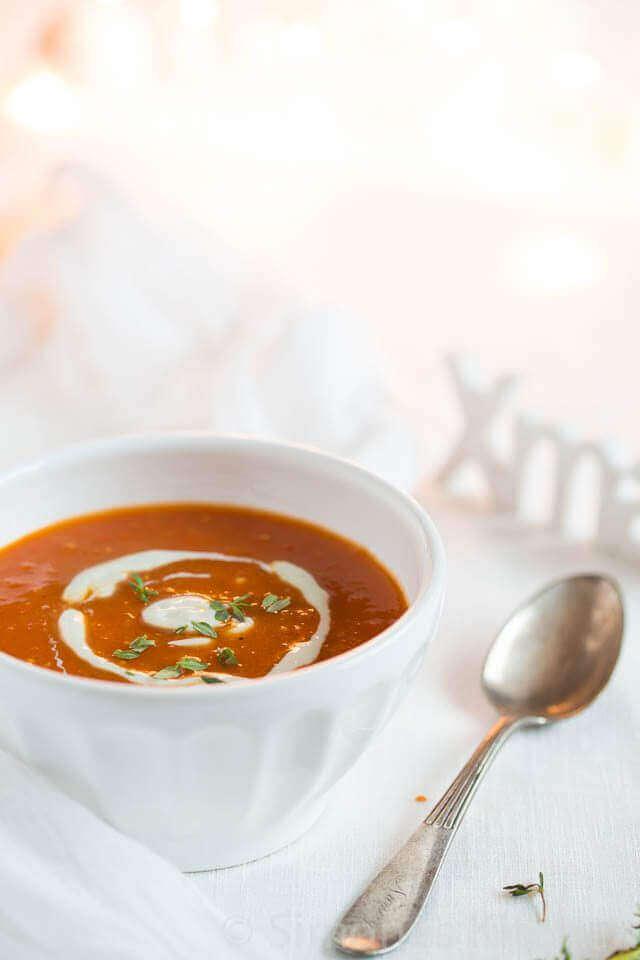 Tomatensoep met gerookte paprika | simoneskitchen.nl