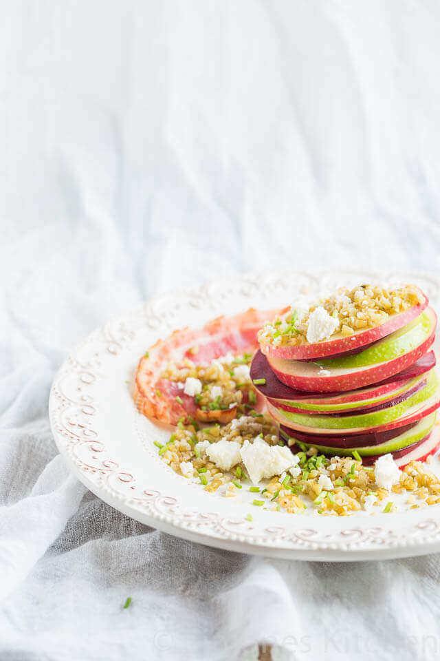 Biet, appel en freekeh salade | simoneskitchen.nl