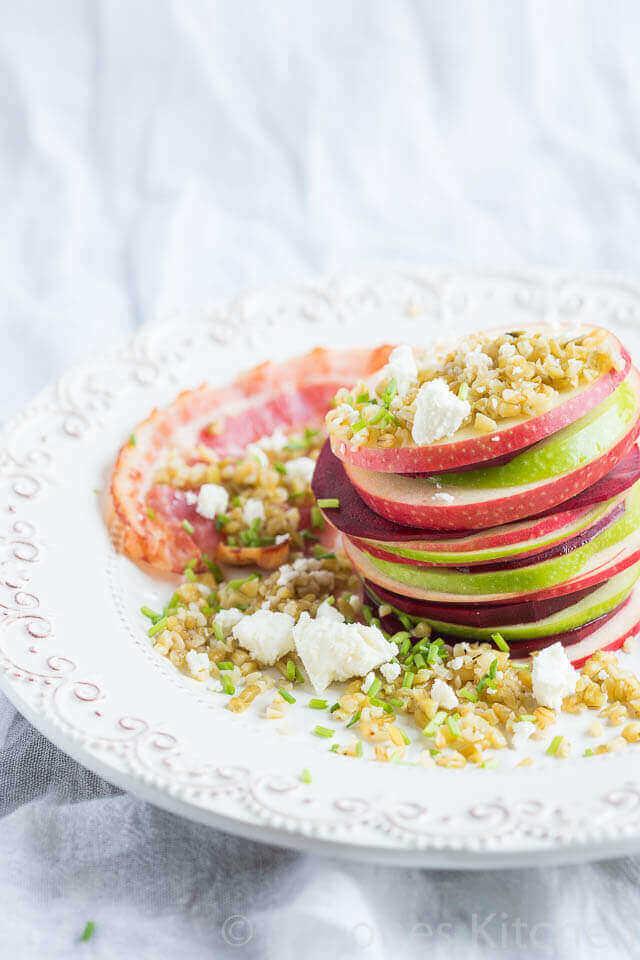 Appel, biet en freekeh salade | simoneskitchen.nl