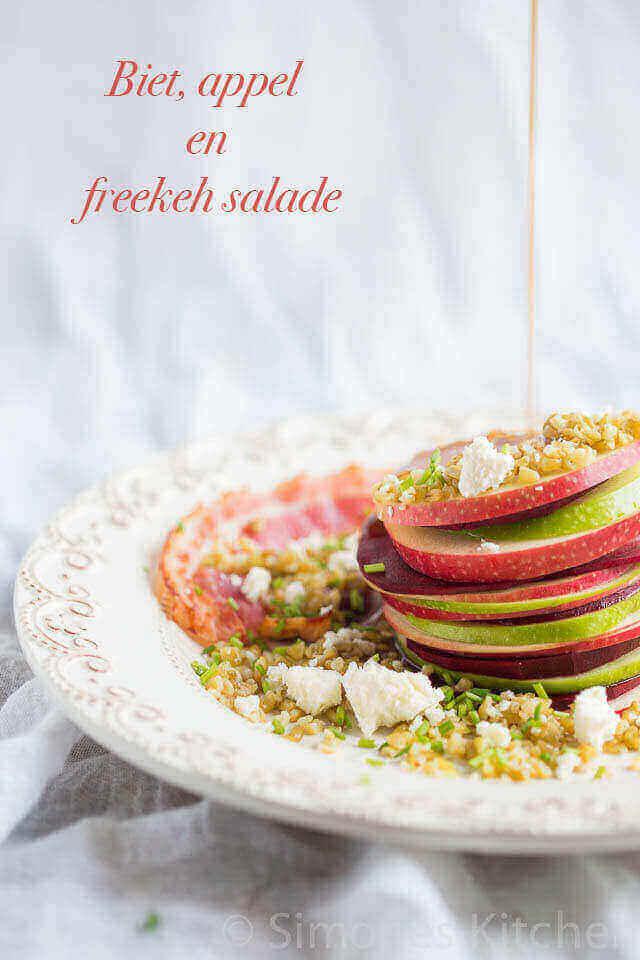 Biet appel en freekeh salade | simoneskitchen.nl