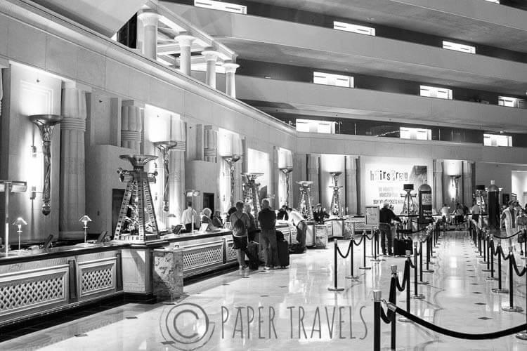Lobby van het Luxor