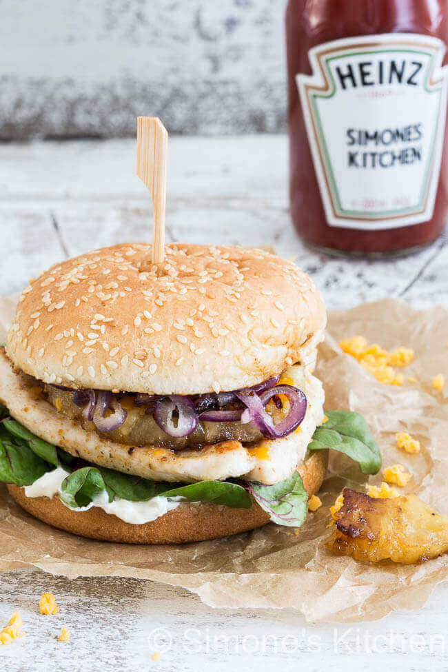 Cajun kipburger | simoneskitchen.nl