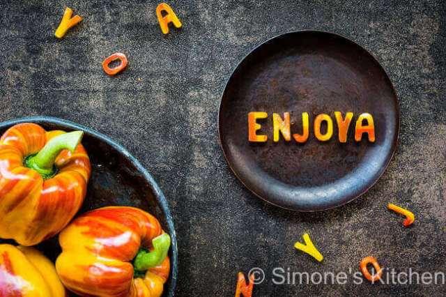 Enjoya paprika's | simoneskitchen.nl