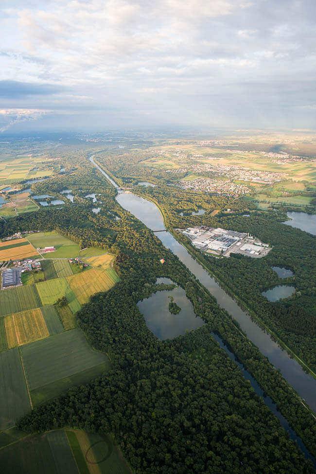 Donau vanuit de lucht