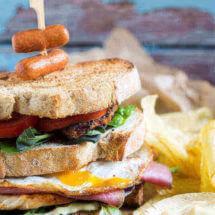 Dudefood clubsandwich | simoneskitchen.nl