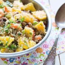 Quinoa salade met mango | simoneskitchen.nl