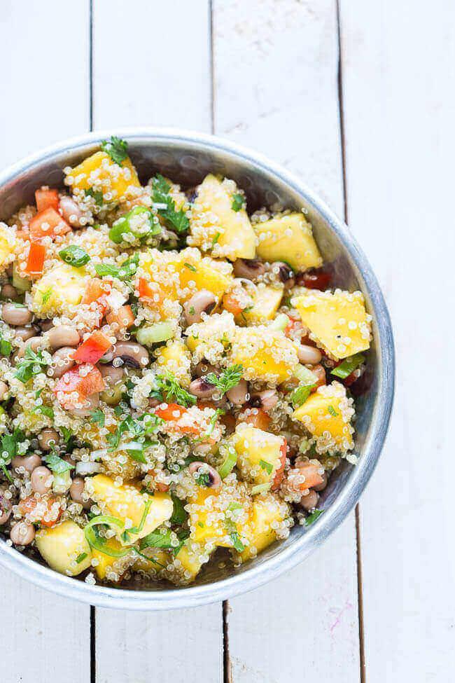 Quinoa salade met mango   simoneskitchen.nl