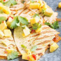 Kipquesadillas met mango salso | simoneskitchen.nl