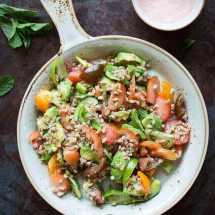 Farro salade met avocado en tomaat | simoneskitchen.nl
