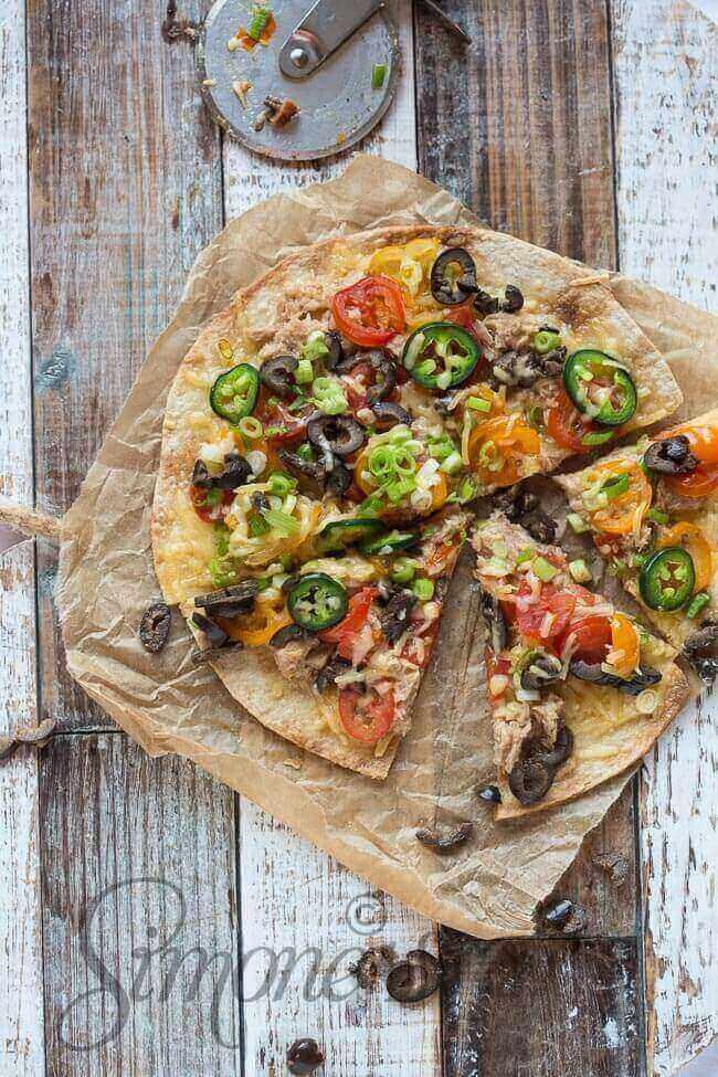 Supersnelle pizza met tonijn | simoneskitchen.nl