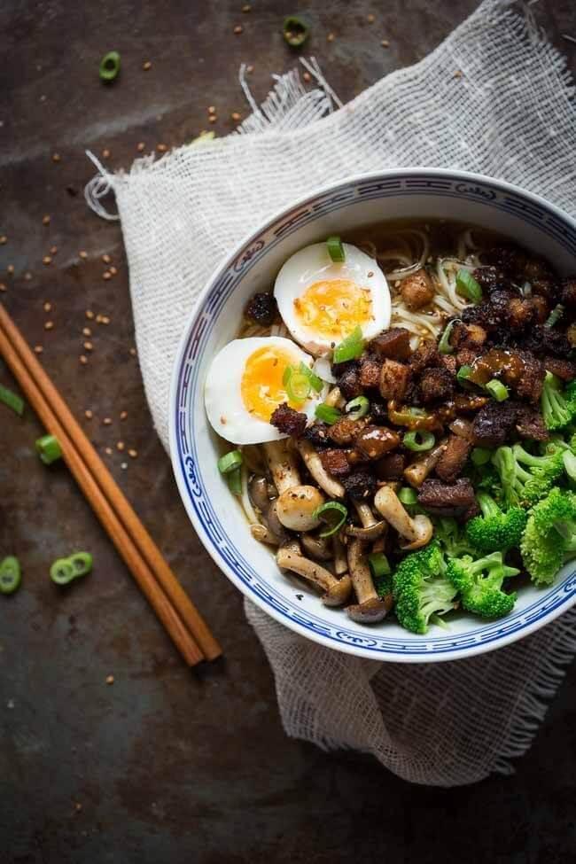 Ramen noodle soep met buikspek | simoneskitchen.nl