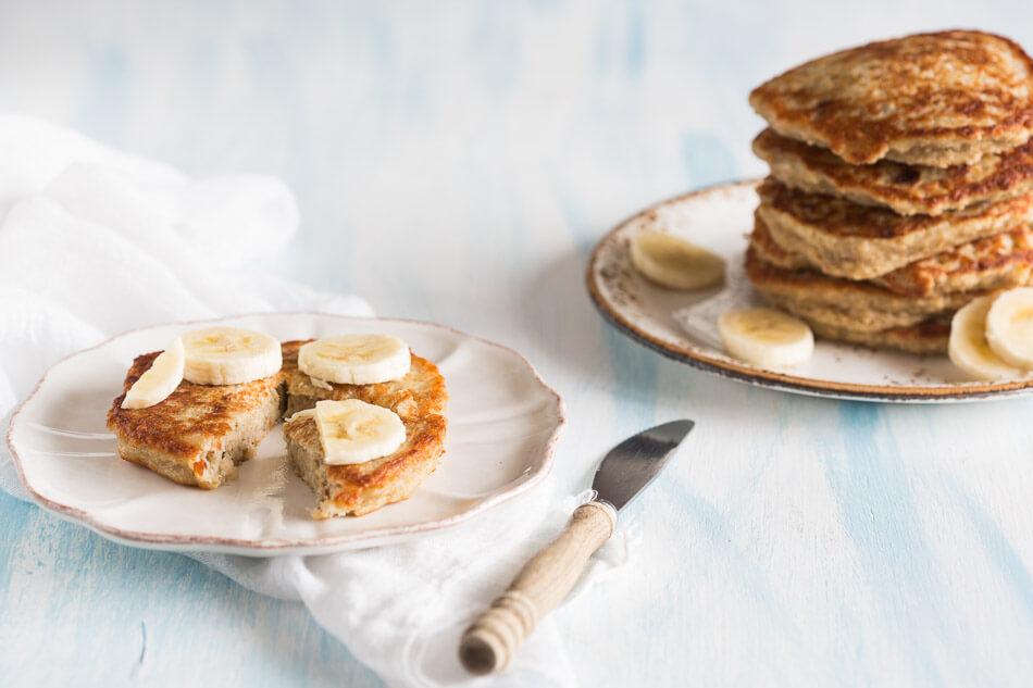 Havermout kokos banaan pannenkoekjes | simoneskitchen.nl