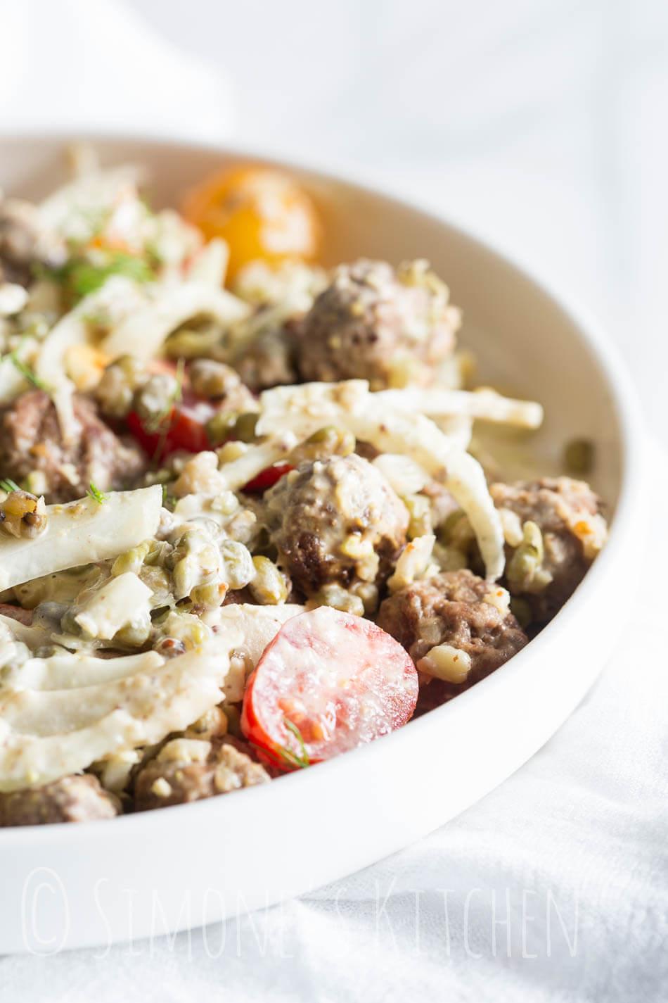 Salade met mungboontjes | simoneskitchen.nl