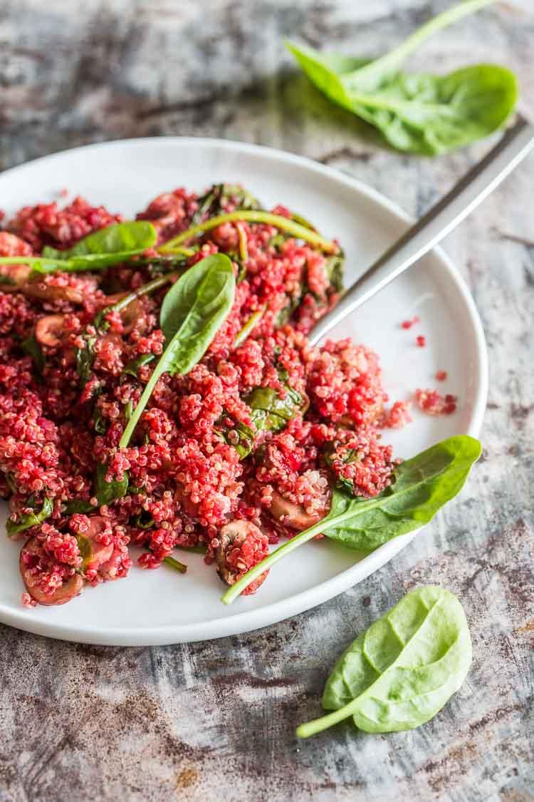 Quinoa salade met biet en spinazie | simoneskitchen.nl
