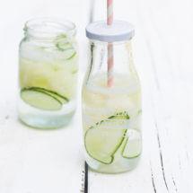 Meloen komkommer drankje met water   simoneskitchen.nl