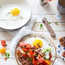 Ontbijt met tomaatjes en champignons | simoneskitchen.nl