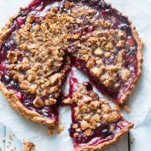 Fruittaart met baileys en bitterkoekjes | simoneskitchen.nl