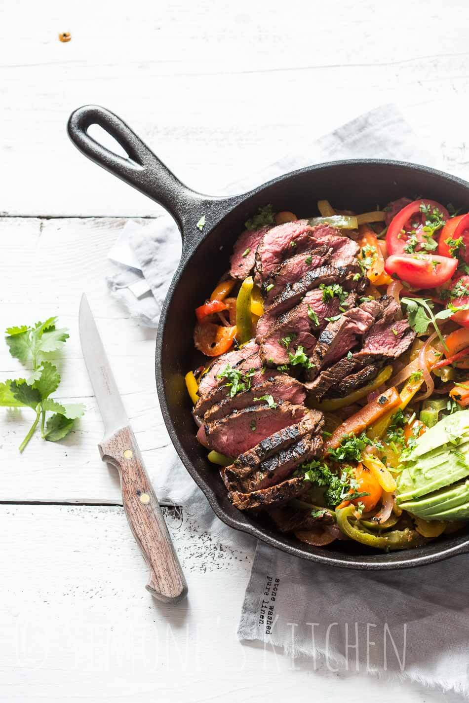 Beef fajitas whole30 | simoneskitchen.nl