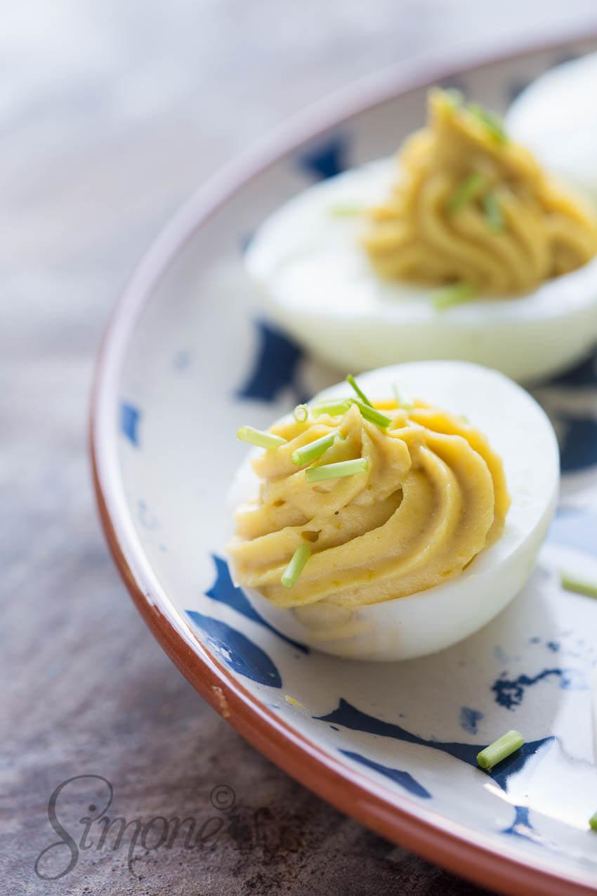 Gevulde wasabi eitjes | simoneskitchen.nl