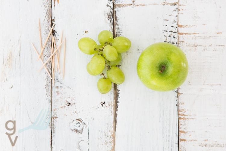 Schildpad van appel en druiven | simoneskitchen.nl