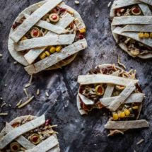 Halloween mummy tortilla's | simoneskitchen.nl