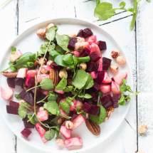 Salade met bietjes en waterkers | simoneskitchen.nl