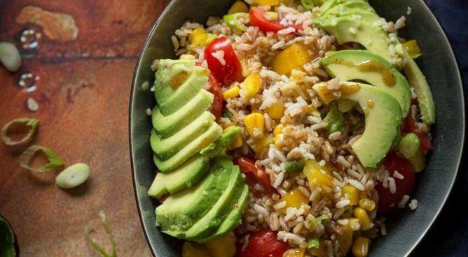 Snelle rijstsalade | simoneskitchen.nl