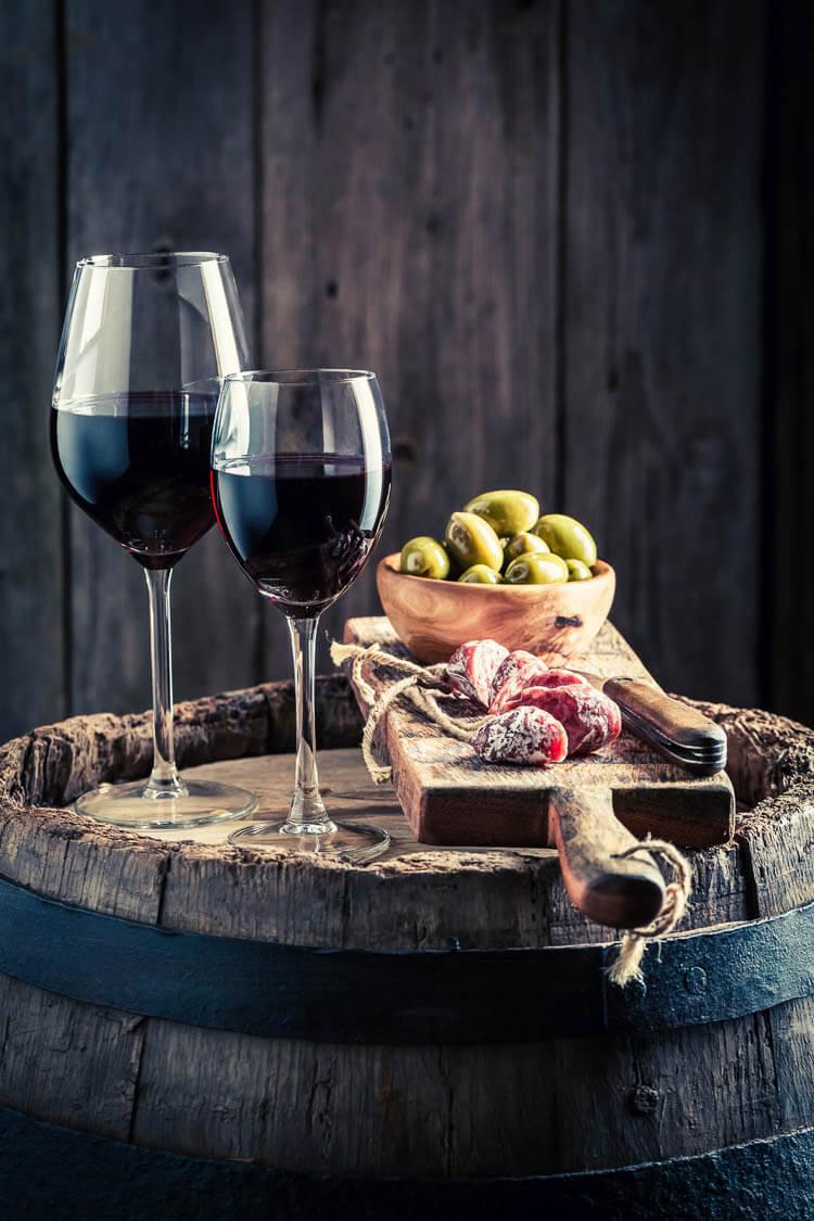 vlees en wijn