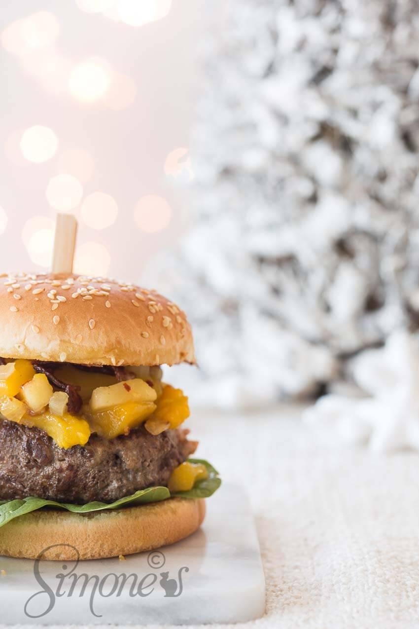 Kerstburger met kastanje   simoneskitchen.nl