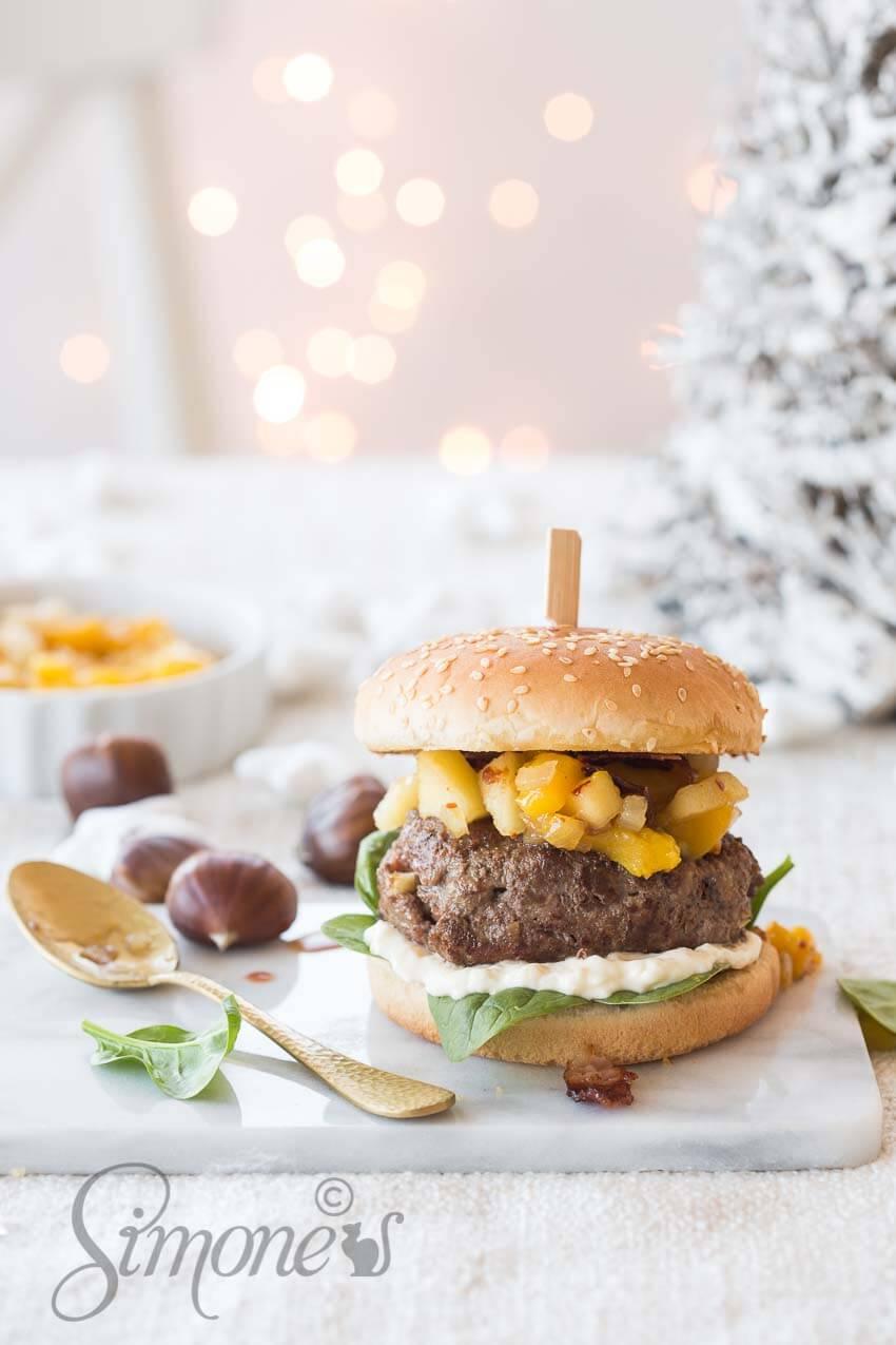 Kerstburger met kastanjes   simoneskitchen.nl