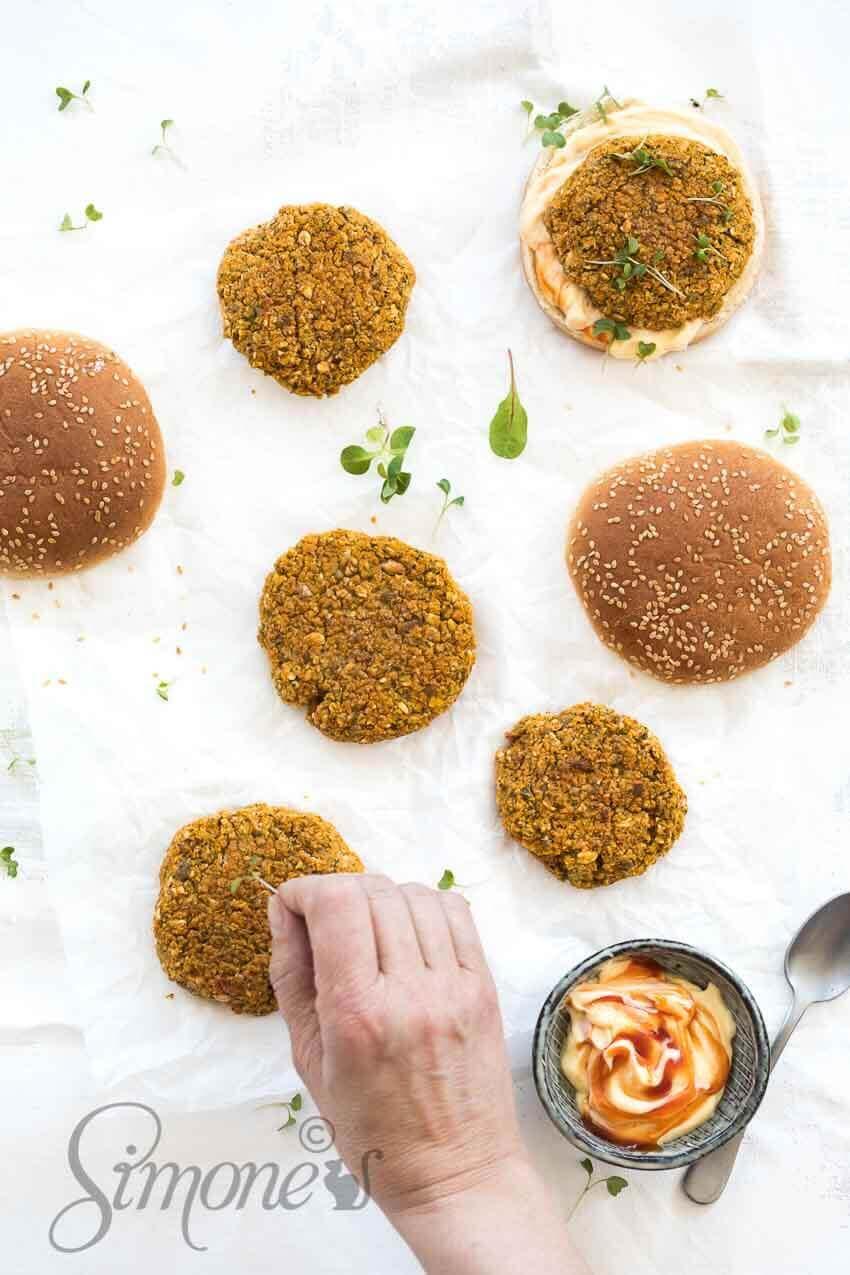 Zoete aardappelburgers | simoneskitchen.nl