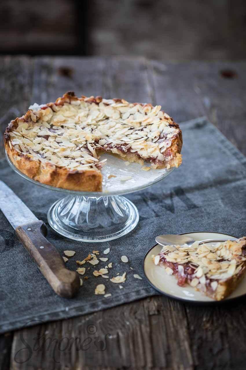 Amandel frambozen taartje | simoneskitchen.nl