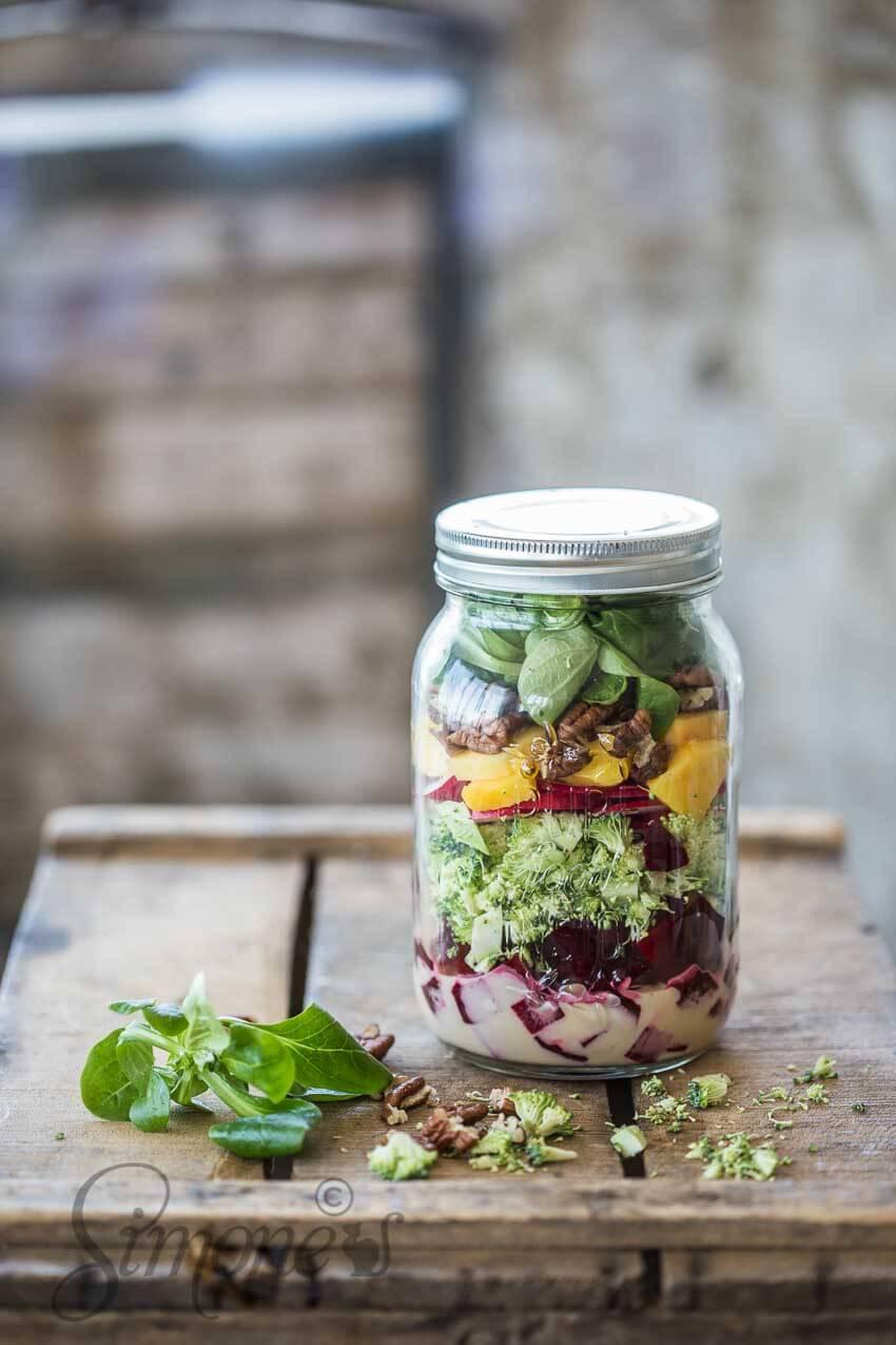 Salade in een pot | simoneskitchen.nl