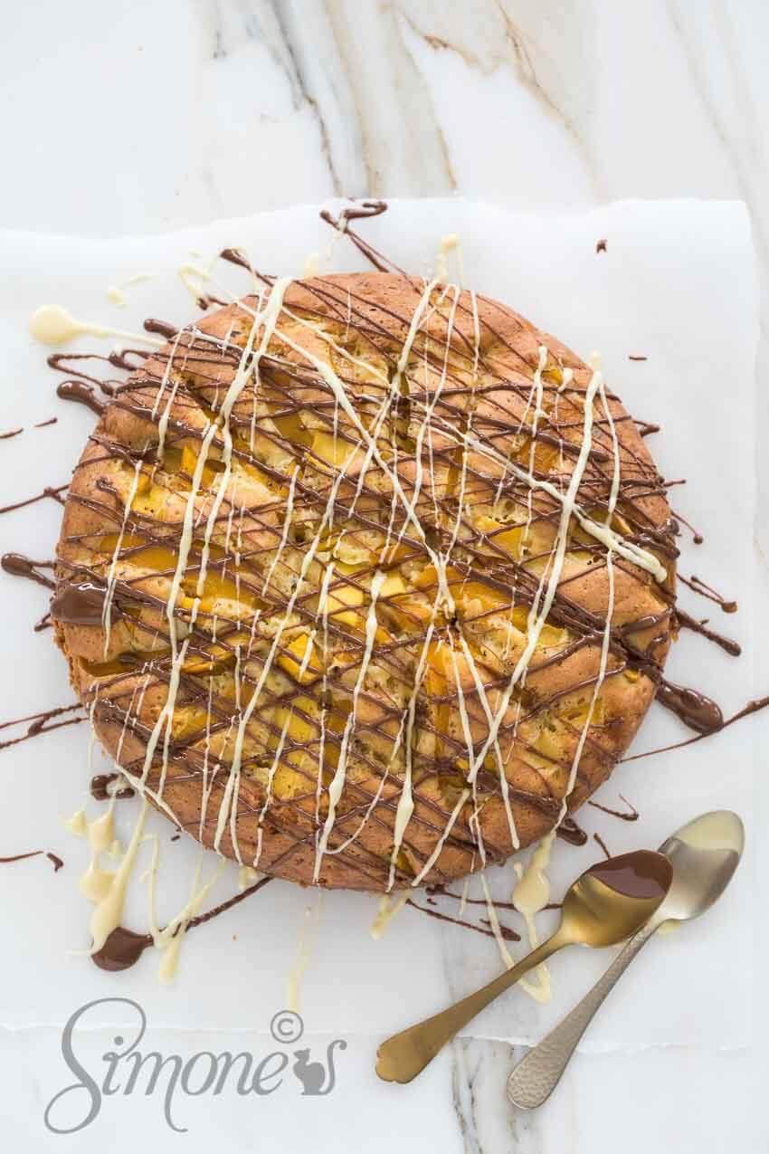Mango chocoladetaart | simoneskitchen.nl