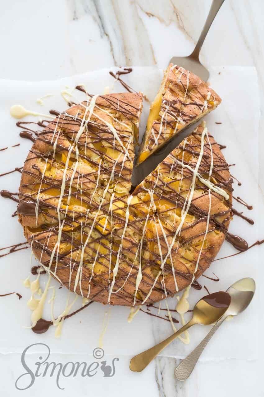 Mangotaart met chocola   simoneskitchen.nl