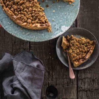 Pompoentaart met pistache crumble | simoneskitchen.nl