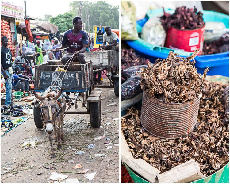 Mbour markt Senegal