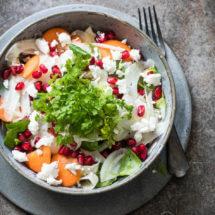 Venkelsalade met granaatappel en geitenkaas | simoneskitchen.nl