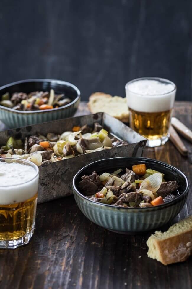 Soep uit de oven met rundvlees en bier | simoneskitchen.nl